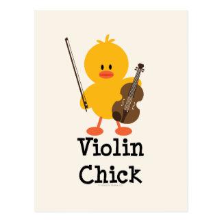Postal del polluelo del violín
