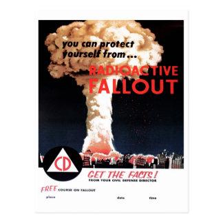 "Postal del ""polvillo radiactivo radiactivo"""