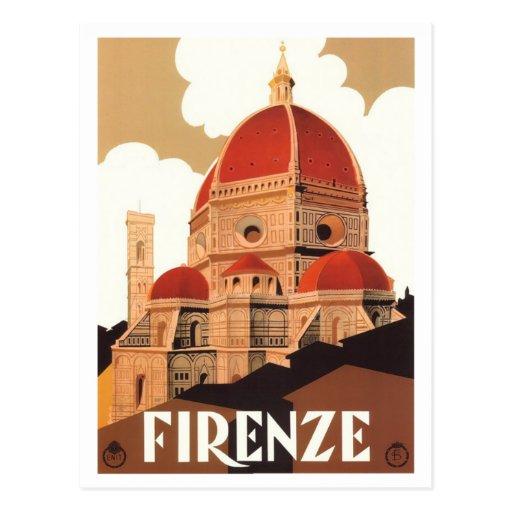 Postal del poster de Firenze