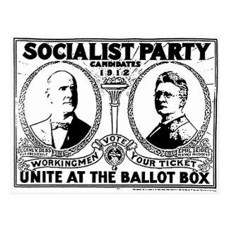 Postal del poster de la campaña de Eugene Debs