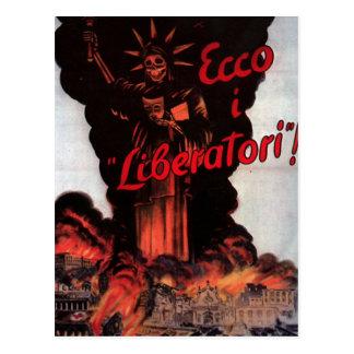 Postal del poster de la propaganda