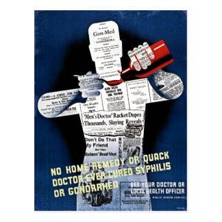 Postal del poster de la salud pública del vintage