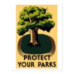 Postal del poster de los parques nacionales de WPA
