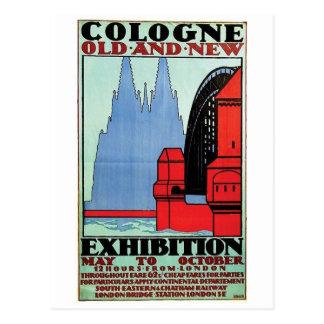 Postal del poster del anuncio del vintage