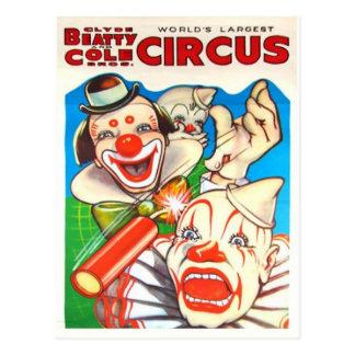 Postal del poster del circo