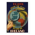 Postal del poster del viaje de Irlanda