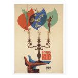 Postal del poster del vintage de Igor Kio del circ