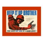 Postal del poster del vintage de WWII