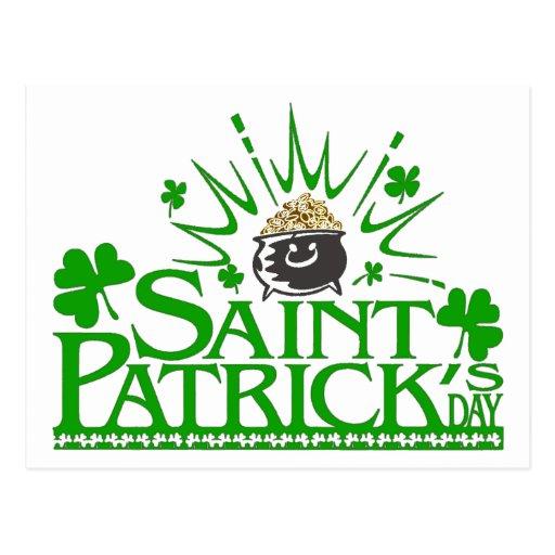 Postal del pote del oro de St Patrick