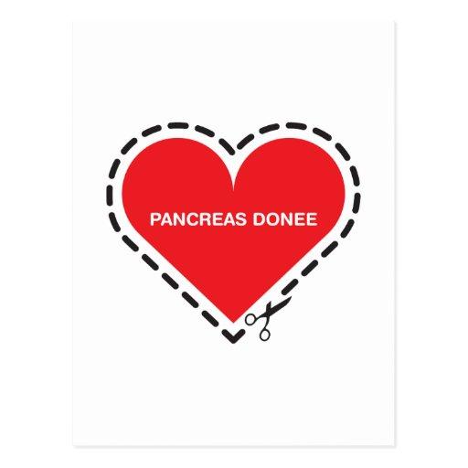 """Postal del pozo del donatario del páncreas """"consig"""