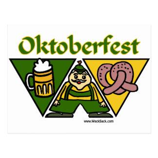 Postal del pretzel de Oktoberfest