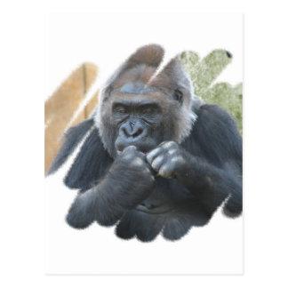 Postal del primate del gorila