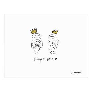 postal del príncipe del dedo
