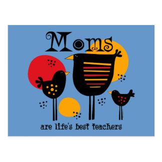 Postal del profesor de la vida de la mamá la mejor