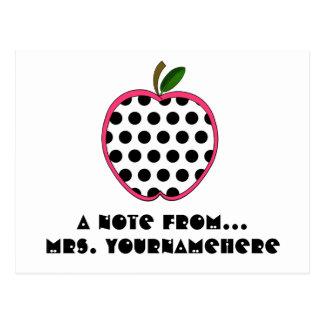 Postal del profesor - lunar Apple