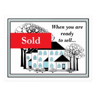 Postal del promo de las propiedades inmobiliarias