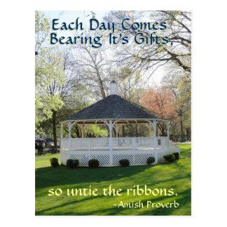 Postal del proverbio de Amish