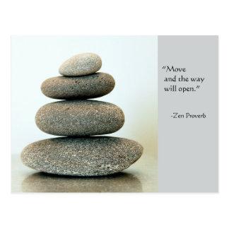 Postal del proverbio del zen