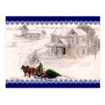 Postal del pueblo del navidad