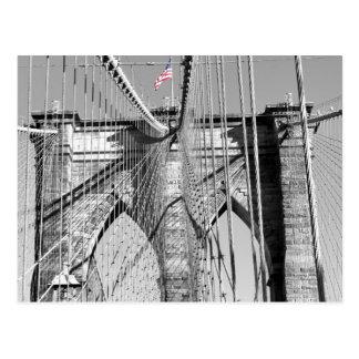 Postal del puente de Brooklyn