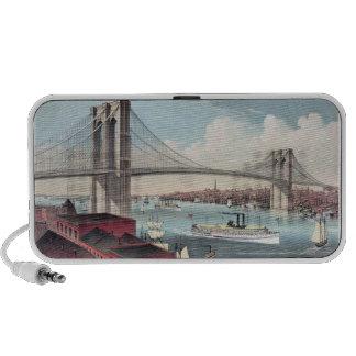 Postal del puente de Brooklyn Altavoz