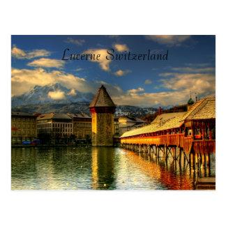 Postal del puente de la capilla de Alfalfa Suiza