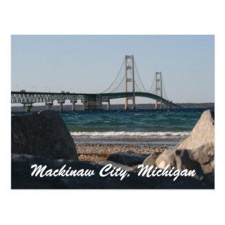Postal del puente de Mackinac