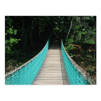 Postal del puente de madera de Belice