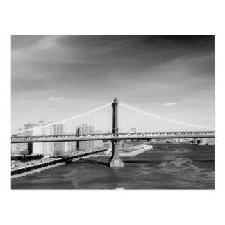 Postal del puente de Manhattan