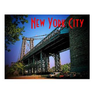 Postal del puente de New York City