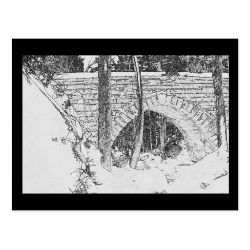 Postal del puente del Acadia - 4