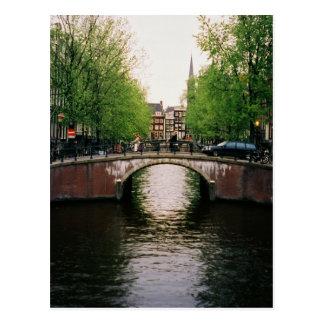 Postal del puente del canal