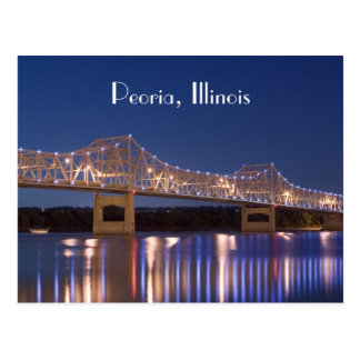 Postal del puente del panadero de Peoria Illinois