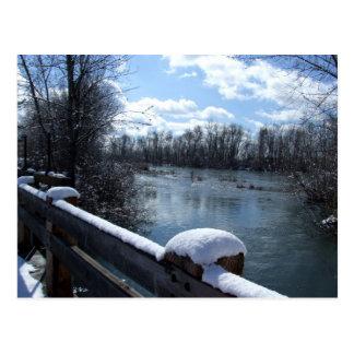 Postal del puente del río de Boise