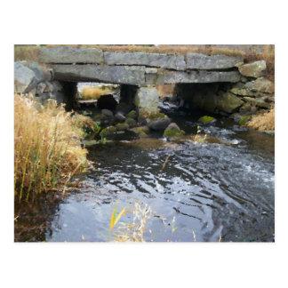 Postal del puente del río y de la piedra