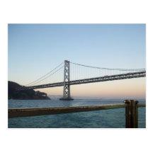 Postal del puente SF California de la bahía