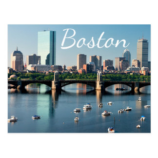 Postal del puerto de Boston, Massachusetts - de