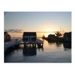 Postal del puerto de Nantucket