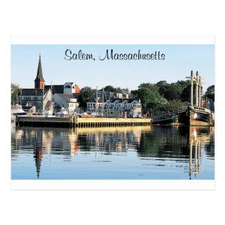 Postal del puerto deportivo de Salem Massachusetts