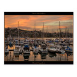 Postal del puerto deportivo de San Diego Californi