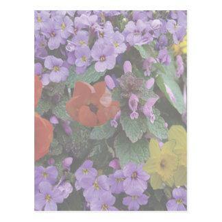Postal del ramo floral