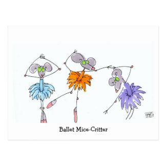 Postal del Ratón-Critter del ballet