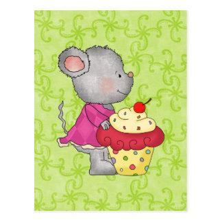 Postal del ratón de la magdalena