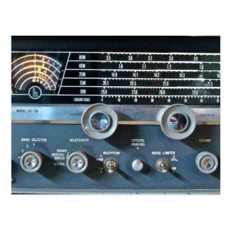 Postal del receptor de radio de la onda corta