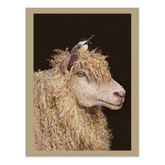 Postal del recolector de las lanas