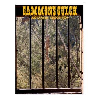 Postal del recuerdo de la quebrada de los Gammons