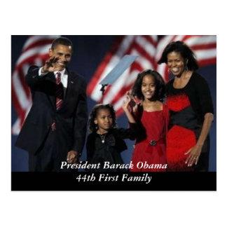 Postal del recuerdo de Obama