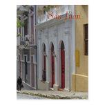 Postal del recuerdo de San Juan viejo, Puerto Rico