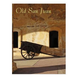 Postal del recuerdo de San Juan viejo Puerto Rico