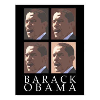 Postal del retrato de Barack Obama